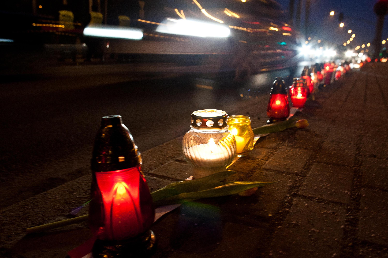 Prometna nesreča sveče